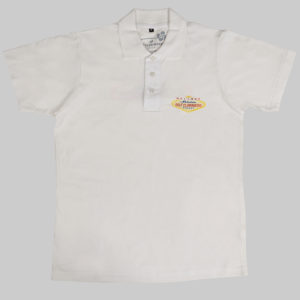 Polos homme blanc coton Golfclubmakers