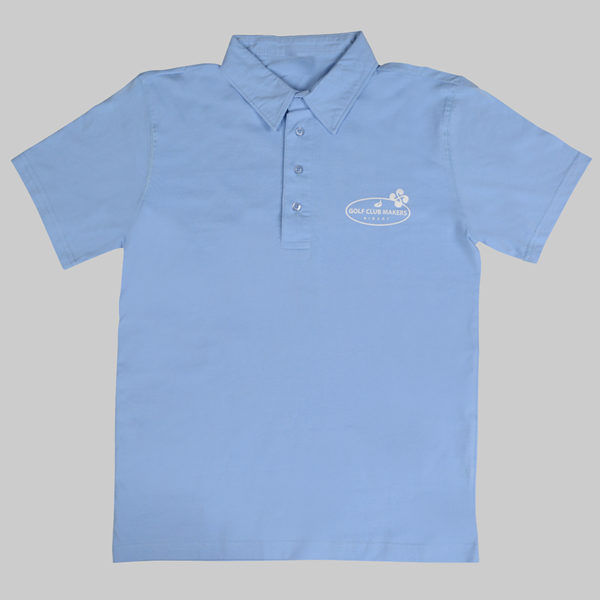 Polos homme blanc Bleu Golfclubmakers