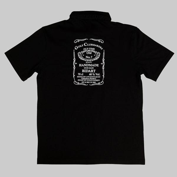 Polo homme noir Jack Daniel's Golfclubmaker