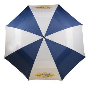 Parapluie marine et blanc